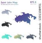 map of saint john with... | Shutterstock .eps vector #1331108951