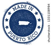 made in puerto rico stamp.... | Shutterstock .eps vector #1331108984