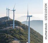windmill mountain power plant   Shutterstock . vector #1331110154