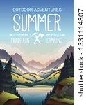 vector poster for outdoor... | Shutterstock .eps vector #1331114807