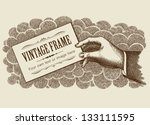 vintage frame background with... | Shutterstock .eps vector #133111595