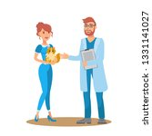 vet consultation flat vector... | Shutterstock .eps vector #1331141027