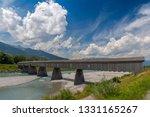 old rhine bridge from...   Shutterstock . vector #1331165267