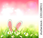 easter theme with bunny ears.... | Shutterstock .eps vector #1331188511