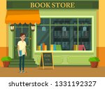 bookshop showcase with... | Shutterstock .eps vector #1331192327