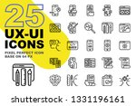 ux ui application outline icons ... | Shutterstock .eps vector #1331196161
