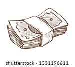 dollar bills cash money stack... | Shutterstock .eps vector #1331196611