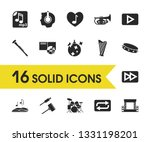 melody icons set with disco... | Shutterstock .eps vector #1331198201