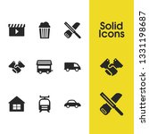build icons set with house ... | Shutterstock . vector #1331198687