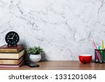 office creative desk with... | Shutterstock . vector #1331201084