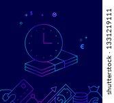 term deposit  time is money... | Shutterstock .eps vector #1331219111