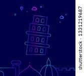 tower of pisa  italy vector...