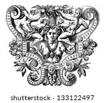 byzantine art object showing... | Shutterstock .eps vector #133122497