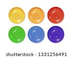 colourful saucers service set.... | Shutterstock .eps vector #1331256491