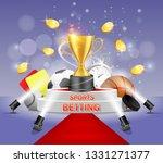 sports betting vector poster... | Shutterstock .eps vector #1331271377
