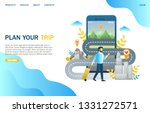 plan your trip vector website... | Shutterstock .eps vector #1331272571