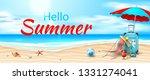 Hello Summer Poster. Seaside...