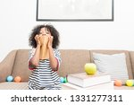 black boy are holding his... | Shutterstock . vector #1331277311