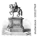 Bronze Statue Of King Louis Xv...