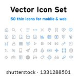 vector icons for mobile app  ...