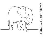 elephant continuous one line... | Shutterstock .eps vector #1331302217