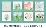 set of cute illustrations with... | Shutterstock .eps vector #1331309741