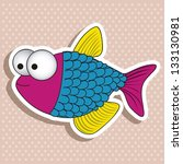 illustration of icons of fish ...   Shutterstock .eps vector #133130981