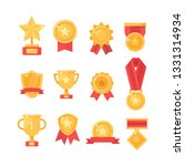 golden cups for winners and... | Shutterstock .eps vector #1331314934