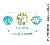 co parenting concept icon.... | Shutterstock .eps vector #1331325611