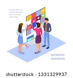 partnership cooperation.... | Shutterstock .eps vector #1331329937