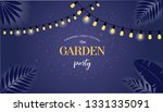 night garden party banner ... | Shutterstock .eps vector #1331335091