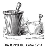 Mortar And Pestle  Shown In Tw...