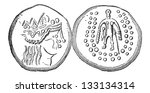 ancient celtic tetradrachma... | Shutterstock .eps vector #133134314