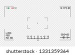 video camera viewfinder overlay.... | Shutterstock .eps vector #1331359364