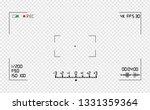 video camera viewfinder overlay.... | Shutterstock .eps vector #1331359364