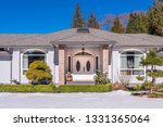fragment of luxury house with... | Shutterstock . vector #1331365064