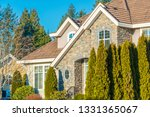 fragment of luxury house with... | Shutterstock . vector #1331365067