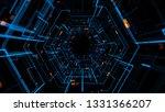 3d Render Abstract Digital...
