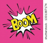 pop art boom explosion cartoons | Shutterstock .eps vector #1331387174