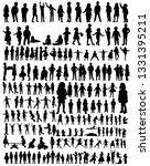 kids silhouettes set   Shutterstock .eps vector #1331395211