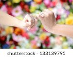 linking little fingers with... | Shutterstock . vector #133139795