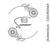 chamomile flower vector frame.... | Shutterstock .eps vector #1331402564