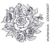 elegant hand drawn graphic...   Shutterstock .eps vector #1331416637