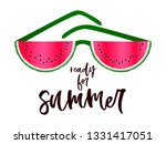 ready for summer text  red... | Shutterstock .eps vector #1331417051