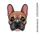 french bulldog head isolated on ... | Shutterstock . vector #1331422604