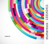 abstract digital circles vector ... | Shutterstock .eps vector #133142411