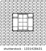 window on a brick wall. vector... | Shutterstock .eps vector #1331428631