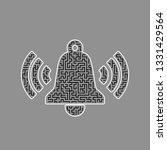ringing bell icon. vector.... | Shutterstock .eps vector #1331429564