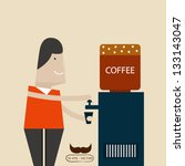 drink coffee | Shutterstock .eps vector #133143047
