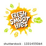 fresh smoothies logo emblem...   Shutterstock .eps vector #1331455064